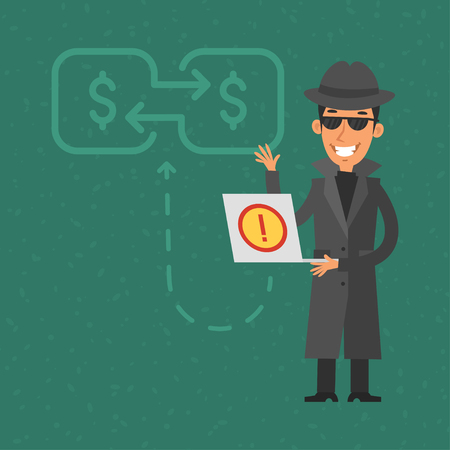 bank account: Thief broke into bank account Illustration