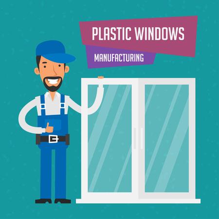 Repairman manufactures plastic windows