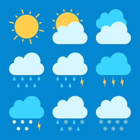 the weather: Pronóstico del tiempo conjuntos de iconos