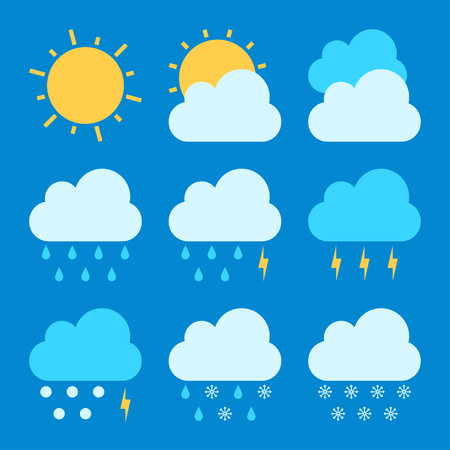 cold weather: Weather forecast icon sets