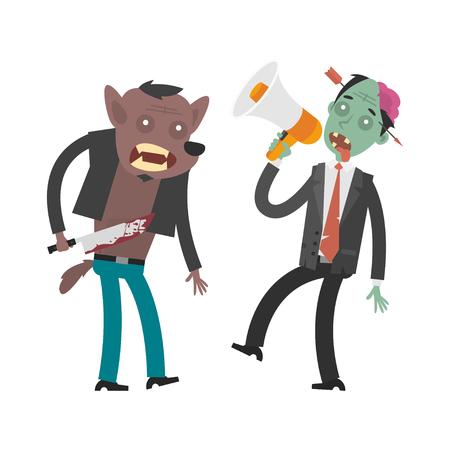 loup garou: Personnages loup-garou et zombies