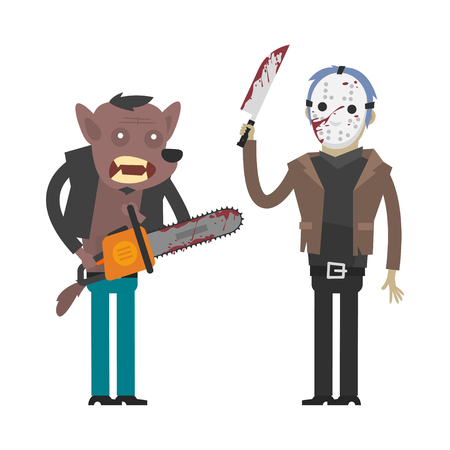 maniaco: Personaggi lupo mannaro e maniaco assassino