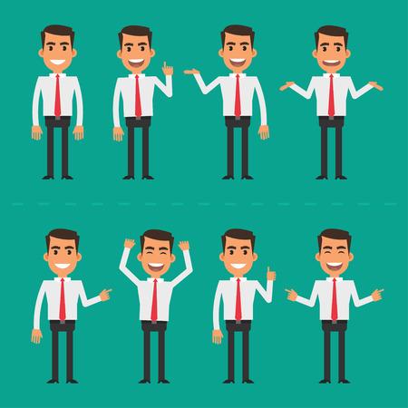 standing man: Businessman in various poses