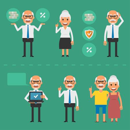Older people pension fund concept