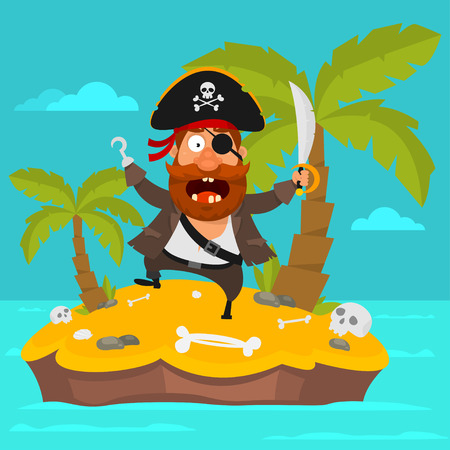 Pirate on island part 4 Illustration
