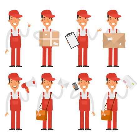 loader: Loader postman in various poses