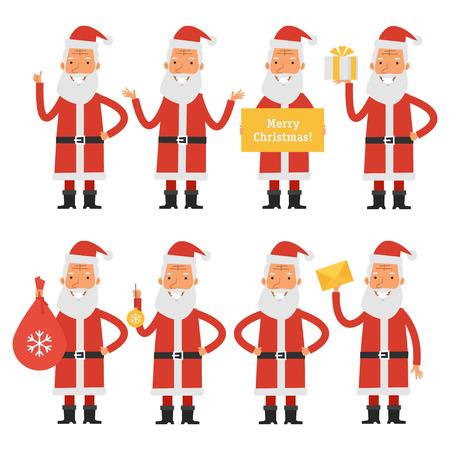 new job: Santa Claus in various poses part 1