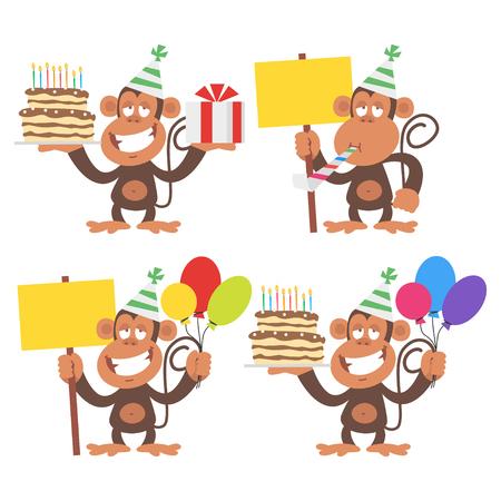 funny birthday: Monkey and Birthday