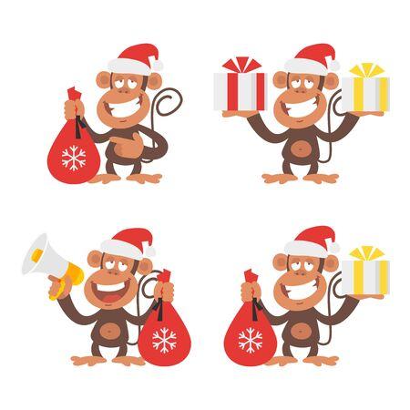 crazy cartoon: Monkey and New Year
