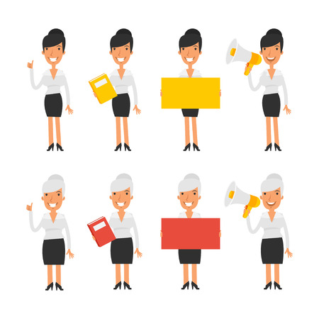 business woman: Set characters business woman Illustration