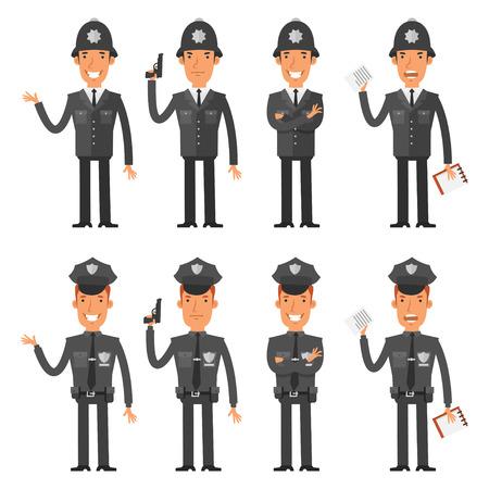 policia caricatura: Personajes Set polic�a