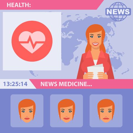 Reporter and medical news Illustration
