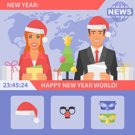 Reporters and New Year