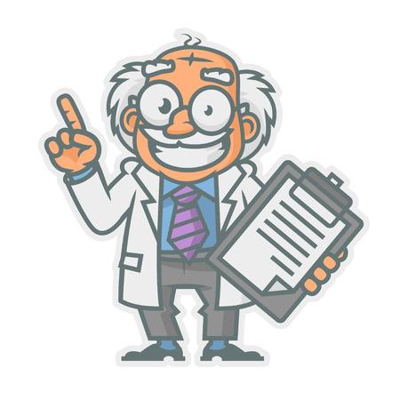Professor showing thumbs up Illustration