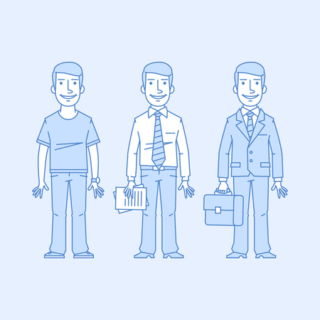 versions: Businessman in different versions