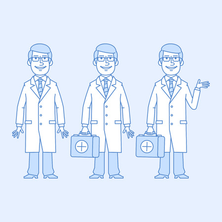 versions: Doctor in different versions Illustration