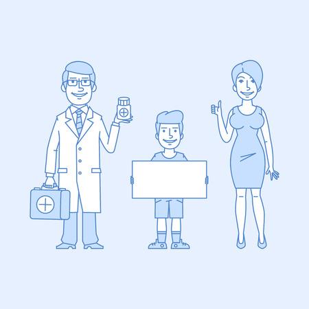 idea cartoon: family doctor