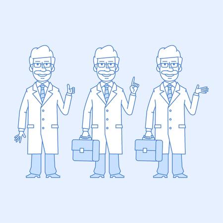 versions: Professor in different versions Illustration