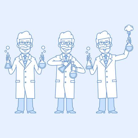 experiments: Professor is conducting an experiment