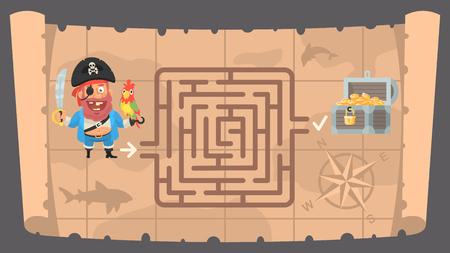 Schatkaart en conundrum labyrint