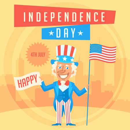 uncle sam: Concept Uncle Sam and Independence Day