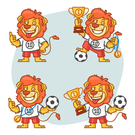 rey caricatura: Le�n futbolista Parte 1