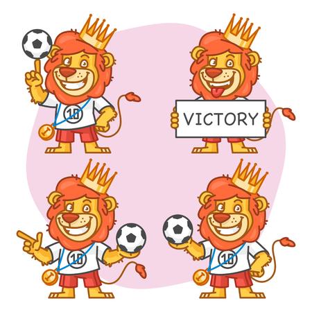 rey caricatura: Le�n de la parte 3 del futbolista