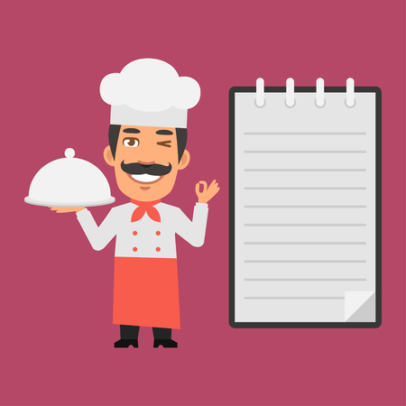 food tray: Chef Holding Tray of Food
