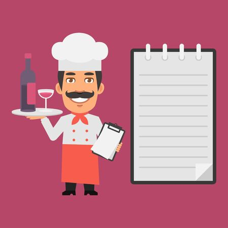 alcoholic beverages: Chef Holding Tray with Alcoholic Beverages