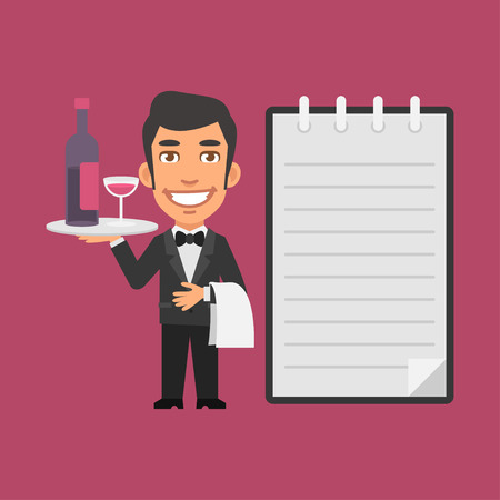waiter tray: Waiter Holding Tray with Alcoholic Beverages