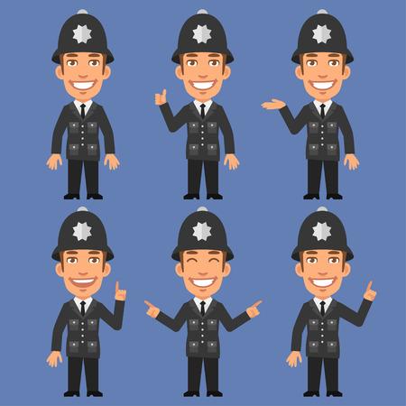 policia caricatura: Inglés Policía Indica y Espectáculos