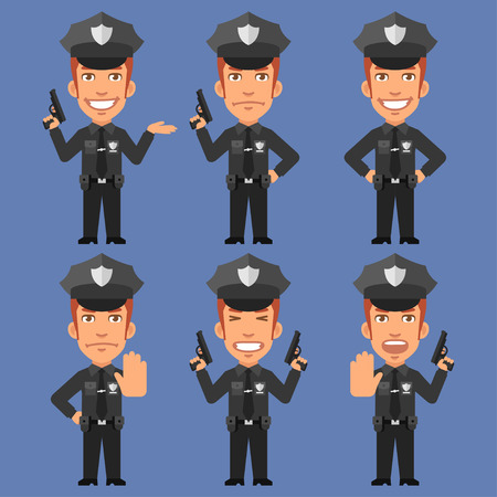 weapons: Policeman Holds Weapons