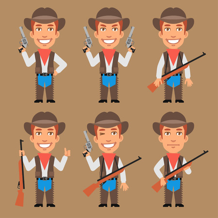weapons: Cowboy Holds Weapons