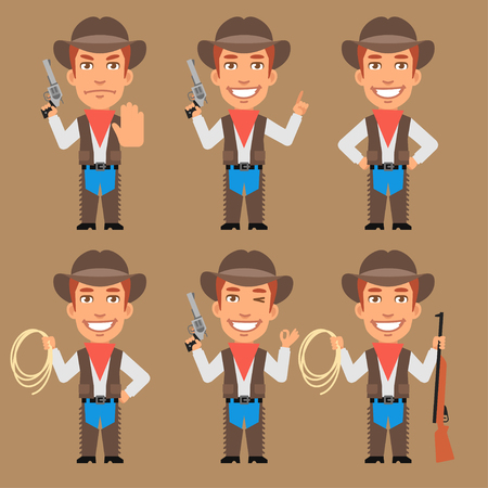 weapons: Cowboy Holds Weapons and Rope