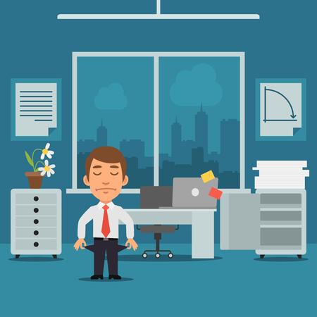 office windows: Businessman in Office Bankrupt