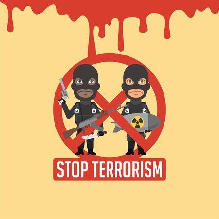 terrorists: Terrorists Blood Prohibitory Sign