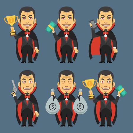 villain: Vampire Holding Gun Money Cup