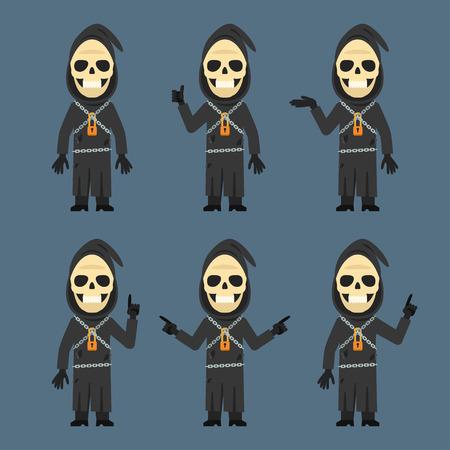 calavera caricatura: Muestra de muerte e indica