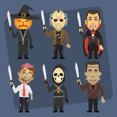 machete: Monsters Holding Machete and Angry Illustration