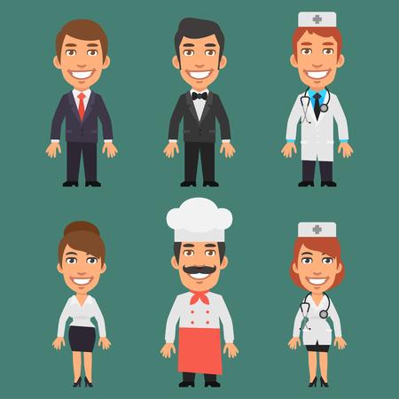profesiones: Caracteres diferentes profesiones
