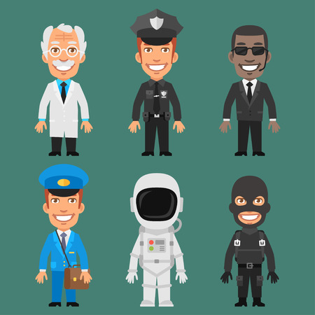 policia caricatura: Caracteres diferentes profesiones Parte 6