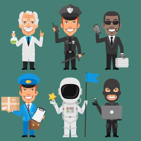 policia caricatura: Caracteres diferentes profesiones Parte 8