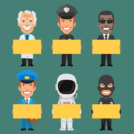 policia caricatura: Caracteres diferentes profesiones Parte 9