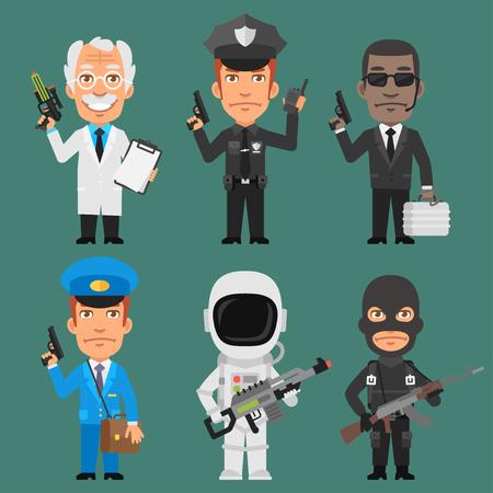 policia caricatura: Caracteres diferentes profesiones Parte 10
