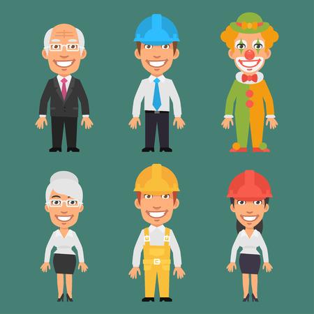 ingeniero caricatura: Caracteres diferentes profesiones