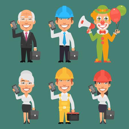 diferentes profesiones: Caracteres diferentes profesiones
