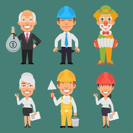 ingeniero caricatura: Caracteres diferentes profesiones Parte 15 Vectores