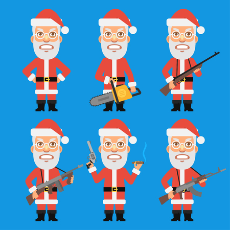 weapons: Angry Santa Claus Holding Weapons