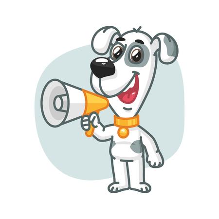 art show: Dog Says into Megaphone