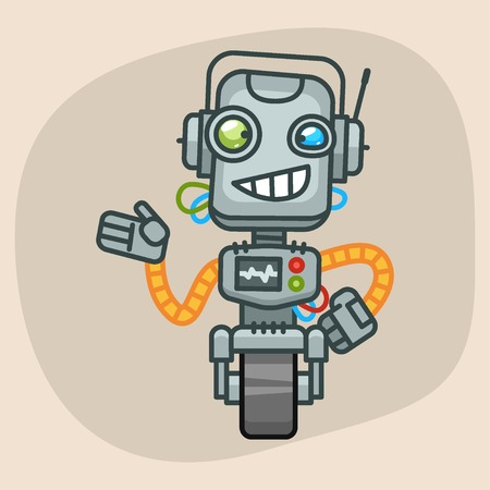 progressive art: Vector Illustration, Robot Smiles and Shows, Format EPS 10